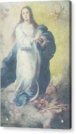 Angelic Mary  Acrylic Print by Unique Consignment