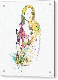 Angelina Jolie 2 Acrylic Print by Naxart Studio