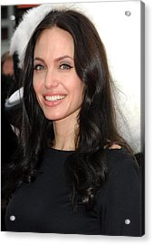 Angelina Jolie At Arrivals For Dvd Acrylic Print by Everett