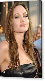 Angelina Jolie At Arrivals For Premiere Acrylic Print by Everett