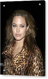 Angelina Jolie At Sharkspeare In The Acrylic Print by Everett
