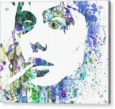 Angelina Jolie Acrylic Print by Naxart Studio