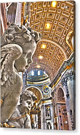 Angels At The Vatican Acrylic Print by Michael Yeager