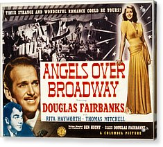 Angels Over Broadway, Thomas Mitchell Acrylic Print by Everett