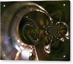 Angel's Trumpets Acrylic Print by J C Edwards