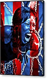 Acrylic Print featuring the photograph Anger In Red And Blue by Alice Gipson