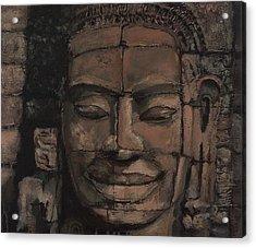 Angkor Smile - Angkor Wat Painting Acrylic Print by Khairzul MG