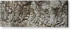 Acrylic Print featuring the photograph Angkor Wat - War Scene by Andrei Fried