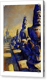 Angkor Wat Ruins Acrylic Print by Ryan Fox