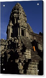 Angkor Wat Temple Complex With Ornate Acrylic Print by Paul Chesley