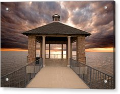 Angry Waters Acrylic Print by Pixel Perfect by Michael Moore