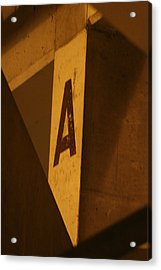 Angular A Acrylic Print by Artist Orange