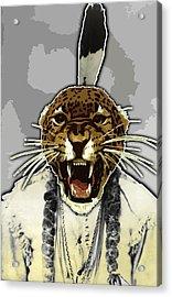 Animal Family 8 Chief Cheeta Acrylic Print by Travis Burns