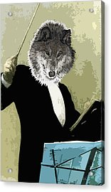 Animal Family 8 Wolf Composer Acrylic Print by Travis Burns