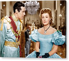 Anna And The King Of Siam, From Left Acrylic Print by Everett