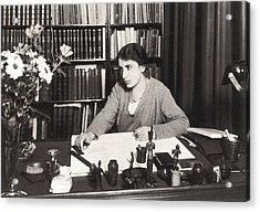 Anna Freud 1895-1982, Youngest Daughter Acrylic Print by Everett