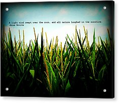 Acrylic Print featuring the photograph Anne Bronte's Cornfield by Robin Dickinson