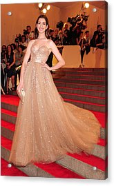 Anne Hathaway Wearing  A Valentino Gown Acrylic Print by Everett