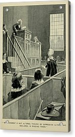 Anne Hutchinson, Charged With Heresy Acrylic Print by Everett