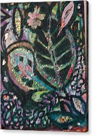 Anne Imagines Abstract Leaves Acrylic Print by Anne-Elizabeth Whiteway