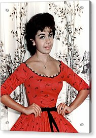 Annette Funicello, 1950s Acrylic Print by Everett