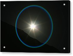 Acrylic Print featuring the photograph Annular Solar Eclipse - Blue Ring At Vasquez Rocks by Lon Casler Bixby
