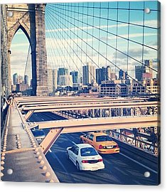 Another Day On Brooklyn Bridge Acrylic Print