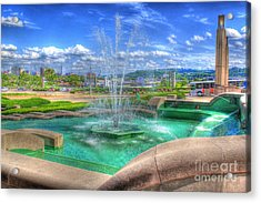 Another Photo Of Fountain At Cincinnati Museum Center Acrylic Print