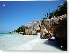 Anse Lazio Acrylic Print by Dhmig Photography