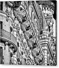 Ansonia Building Detail 10 Acrylic Print by Val Black Russian Tourchin