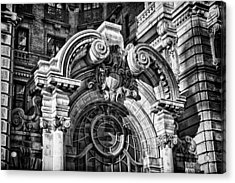 Ansonia Building Detail 2 Acrylic Print by Val Black Russian Tourchin
