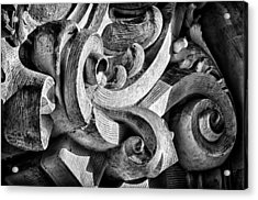 Ansonia Building Detail 25 Acrylic Print by Val Black Russian Tourchin