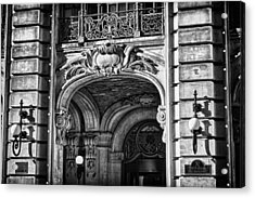 Ansonia Building Detail 4 Acrylic Print by Val Black Russian Tourchin