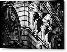 Ansonia Building Detail 8 Acrylic Print by Val Black Russian Tourchin