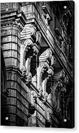 Ansonia Building Detail 9 Acrylic Print by Val Black Russian Tourchin