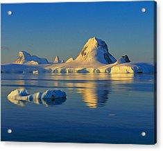 Antarctic Dusk Acrylic Print by Tony Beck