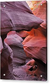 Antelope Canyon - Canvas For Nature's Compositions Acrylic Print by Christine Till
