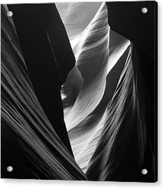Acrylic Print featuring the photograph Antelope Canyon Sandstone Abstract by Mike Irwin