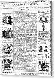 Anti-slavery Broadside Acrylic Print by Granger