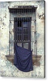Acrylic Print featuring the photograph Antigua Window Guatemala by John  Mitchell