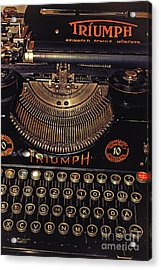 Antiquated Typewriter Acrylic Print by Jutta Maria Pusl