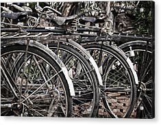 Antique Bicycles Acrylic Print by Thomas  von Aesch