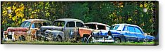 Antique Cars Graveyard Acrylic Print