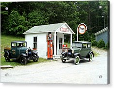 Antique Cars Acrylic Print by Ted Kinsman