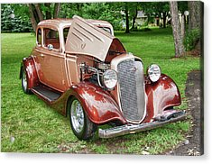 Antique Chevy  7757 Acrylic Print by Guy Whiteley