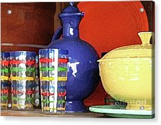 Antique Fiesta Dishes 3 Acrylic Print by Marilyn West