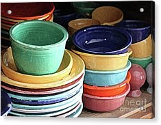Antique Fiesta Dishes I Acrylic Print by Marilyn West