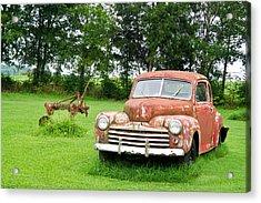 Antique Ford Car 6 Acrylic Print by Douglas Barnett