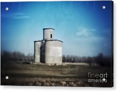 Antique Grain Elevator Acrylic Print by Jeremy Linot