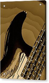 Antique Guitar Acrylic Print by M K  Miller
